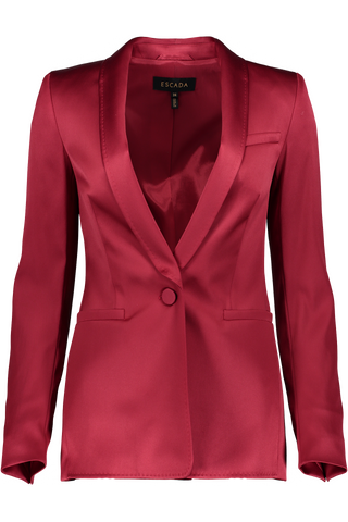 BEGASA SATIN BLAZER BLACK CHERRY