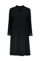 LONG SLEEVE DUAVA DRESS BLACK