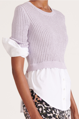 Kaley Mixed Media Sweater Lilac