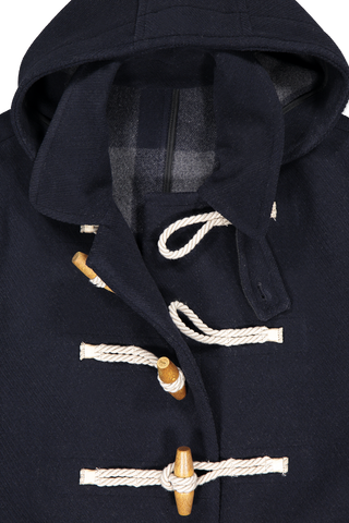 Front collar and hood detail image of AMI Duffel Coat Marine