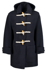 Front view image of AMI Duffel Coat Marine