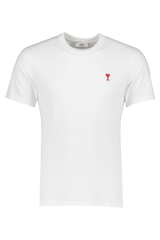 Front view image of AMI Men's Tee Ami De Coeur White