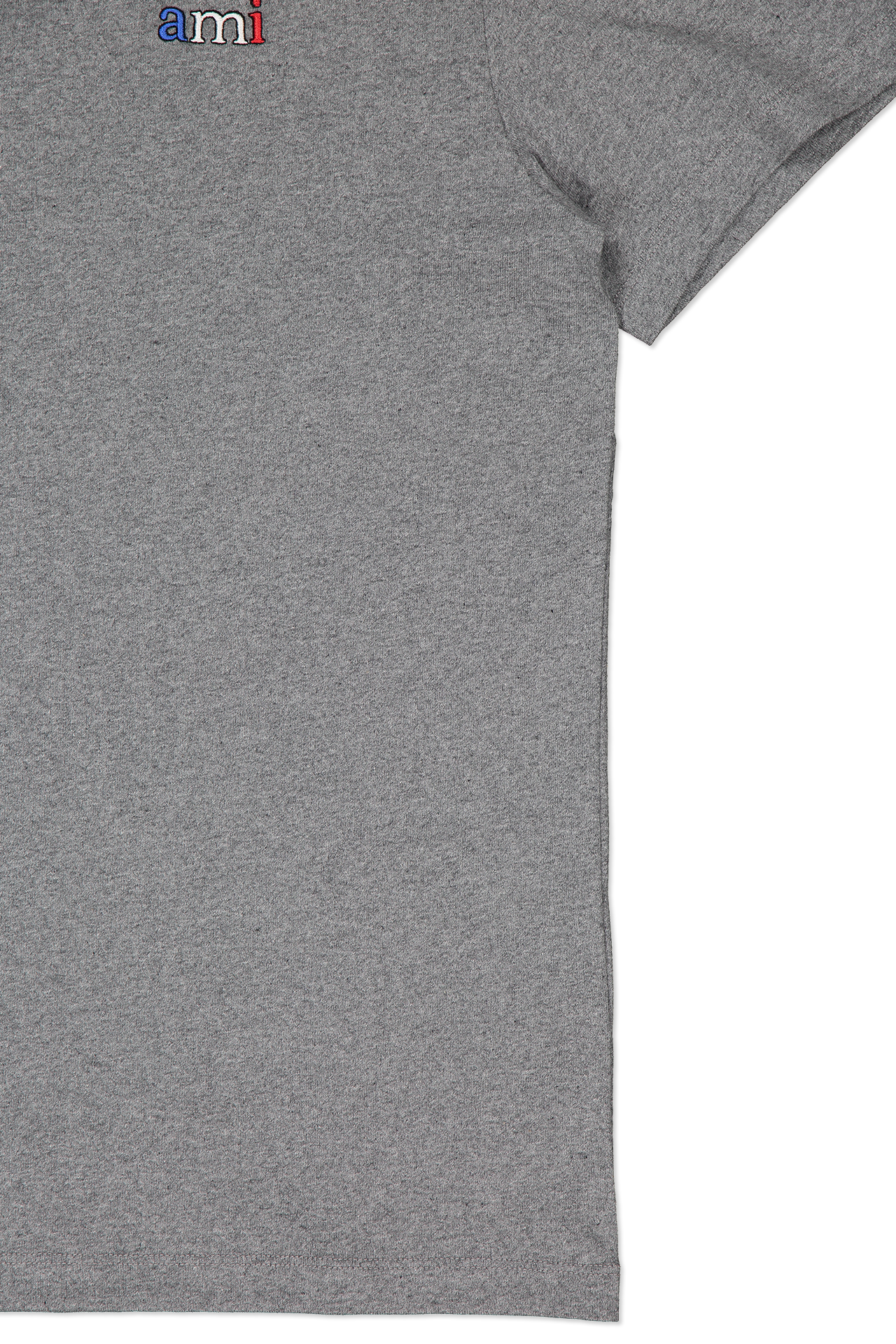 Side view sleeve image of AMI Men's Tee Broderie Ami Bbr