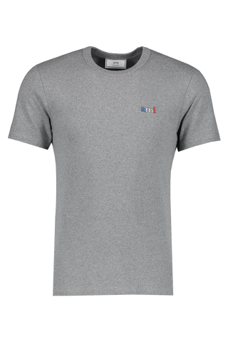 Front view image of AMI Men's Tee Broderie Ami Bbr