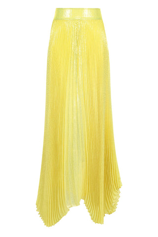 Katz Pleated Maxi Skirt Lemon