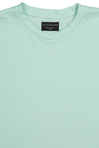 Front collar detail image of Good Life Short Sleeve Club Scallop Crew Tee