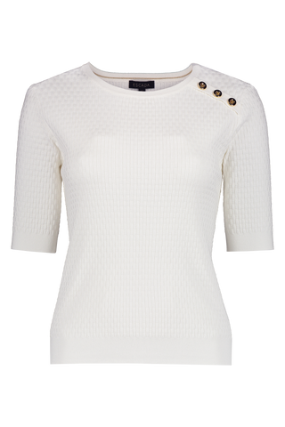 Setar Knit Top White