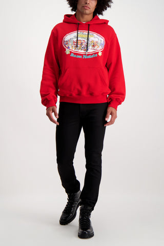 Full Body Image Of Model Wearing GCDS Christmas Hoodie