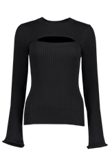 Front view image of L'AGENCE Pasha Sweater Black