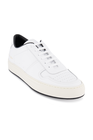 Front angled view image of Common Projects Men's Bball 88 Sneaker White/Black
