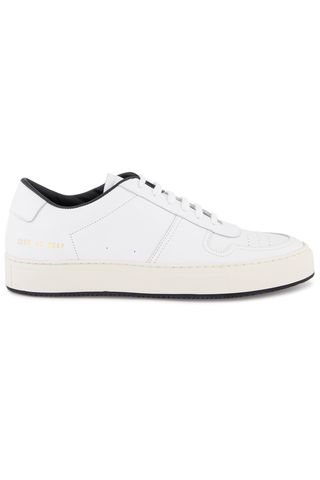 Side view image of Common Projects Men's Bball 88 Sneaker White/Black
