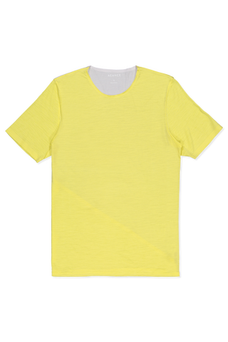 SS JERSEY T-SHIRT YELLOW/LIGHT GREY