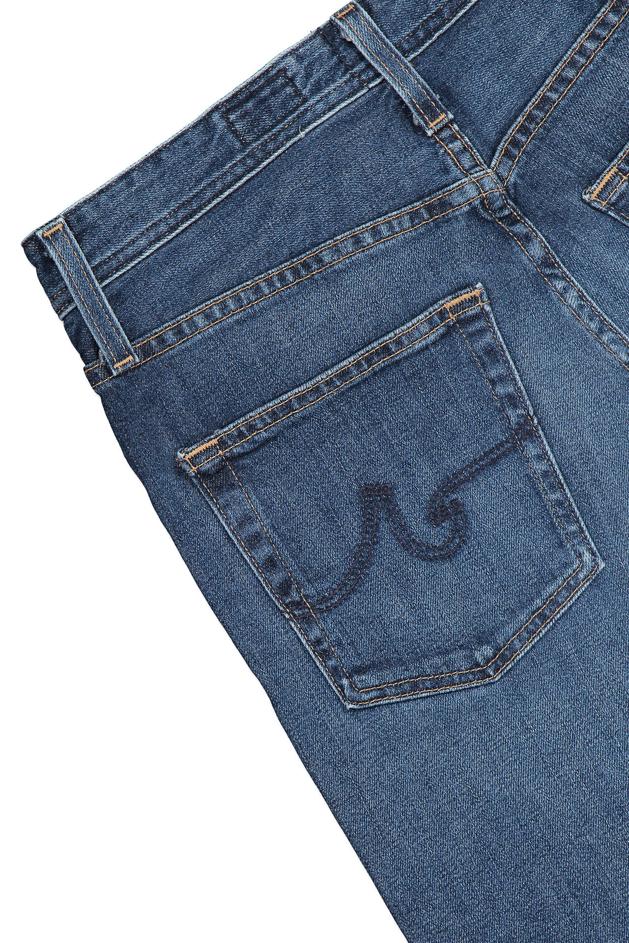 back pocket detail image of AG Women's Etta Denim Blue Glory