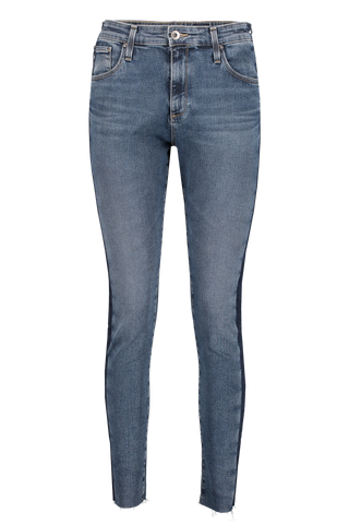 Front view image of AG Women's Farrah Skinny Ankle Jeans Dusky Skies