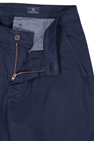 Front waistline and zipper detail image of AG Men's Griffin Short Midnight Berlin