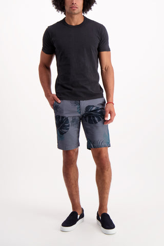 Full Body Image Of Model Wearing AG Griffin Short Trop Fonds Fog