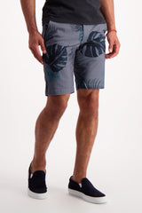Front Crop Image Of Model Wearing AG Griffin Short Trop Fonds Fog