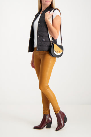 LEGGING ANKLE VINTAGE LEATHERETTE DUCK