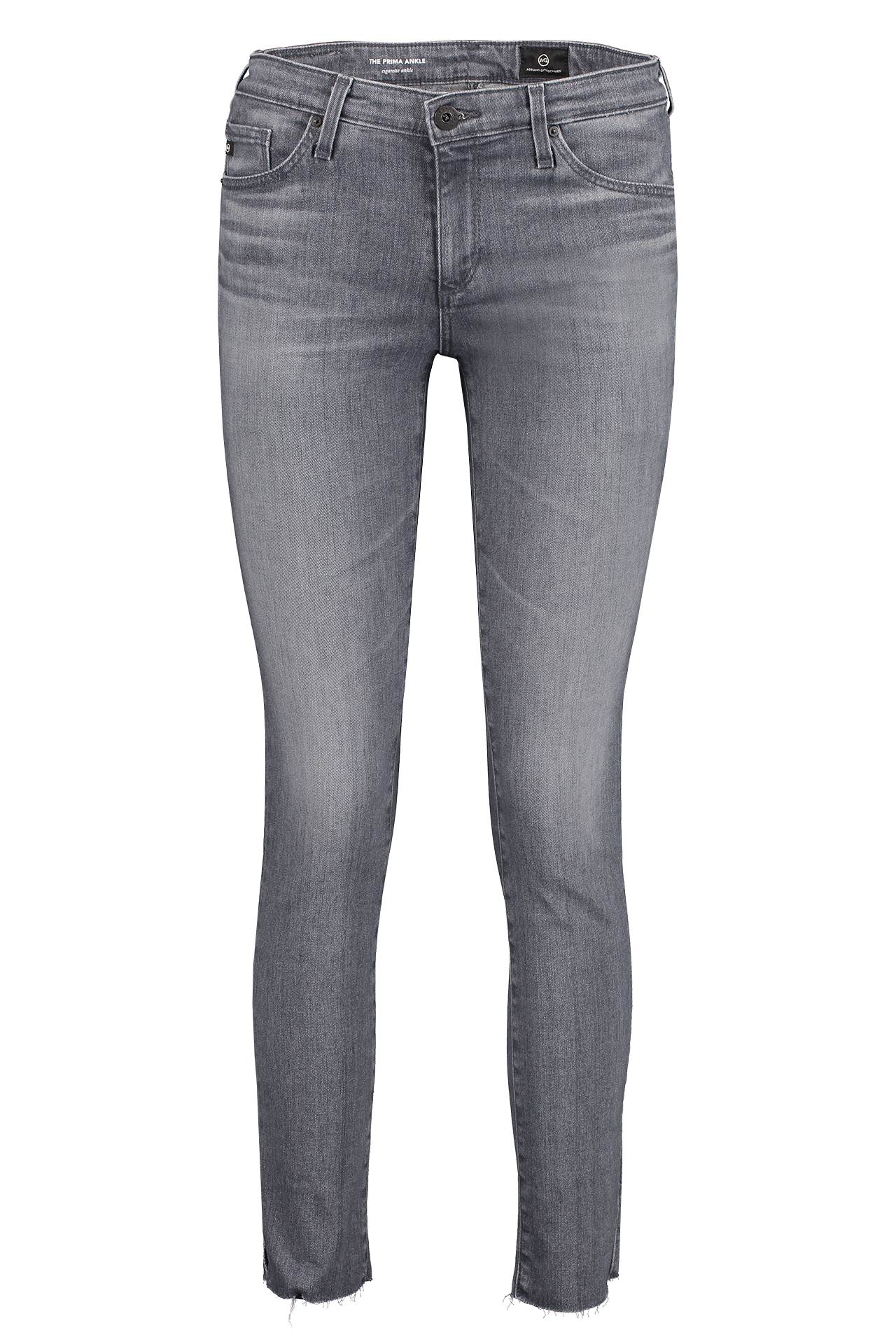 Front image of AG Women's Prima Ankle Gray Light Jeans