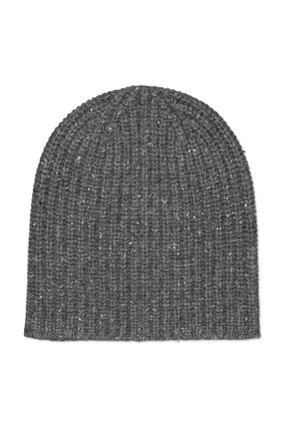 Image of Alex Mill Cashmere Donegal Beanie Dark Grey