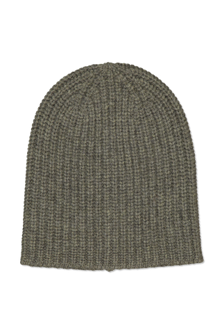 Image of Alex Mill Cashmere Solid Beanie Heather Olive
