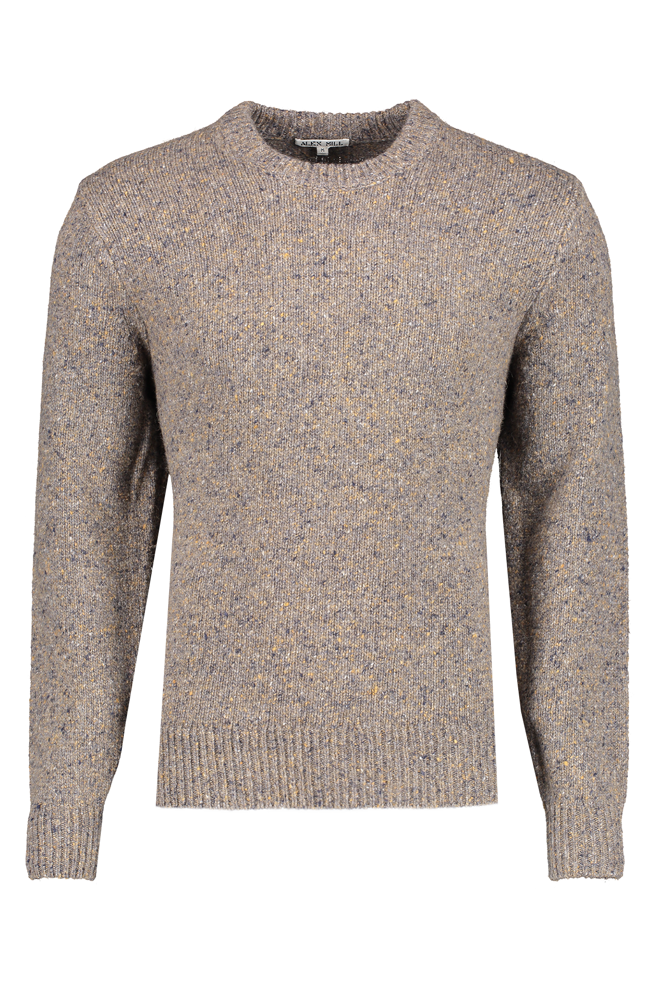 Front Crop Image Of Alex Mill Men's Donegal Crewneck Sweater Spinney