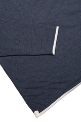DOUBLE LAYER CREWNECK NAVY/NATURAL