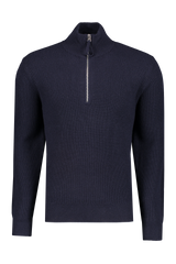 Image Of Alex Mill Men's Extra Fine Merino Half Zip Sweater Navy
