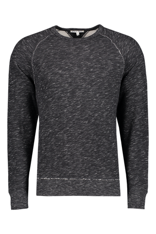 Front image of Alex Mill Men's French Terry Heather Sweatshirt Black