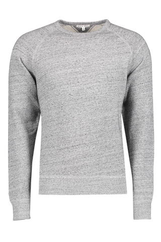 Front image of Alex Mill Men's French Terry Heather Sweatshirt Grey