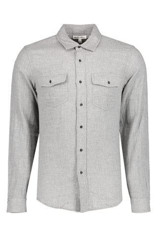 Front image of Alex Mill Men's Long Sleeve Double Gauze Pocket Shirt