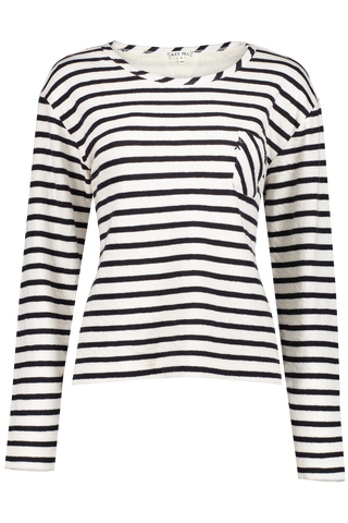 Front view image of Alex Mill Women's Long Sleeve Double Weave Stripe Tee