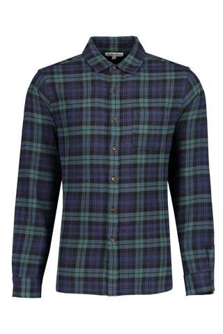 Front image of Alex Mill Men's Long Sleeve Easy Flannel Pocket Shirt