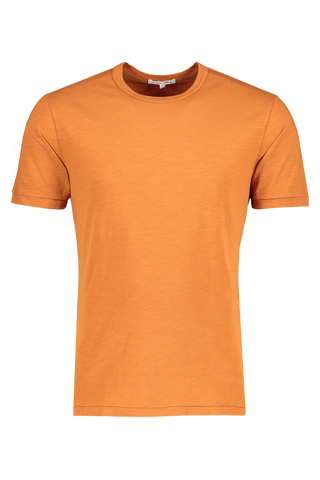 Front image of Alex Mill Men's Short Sleeve Slub Cotton Tee Toffee