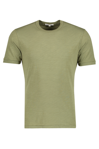 Front image of Alex Mill Men's Short Sleeve Slub Cotton Tee Army Green