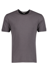 Front image of Alex Mill Men's Short Sleeve Slub Cotton Tee Iron Grey
