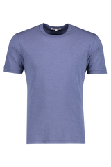 Front image of Alex Mill Men's Short Sleeve Slub Cotton Tee Blue Storm