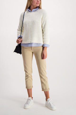 Shrunken Fine Stripe Shirt