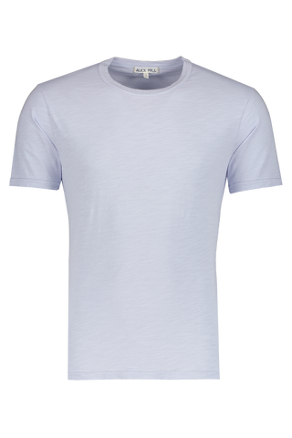 Front view image of Alex Mill Men's Standard Slub Cotton Tee Calm Blue