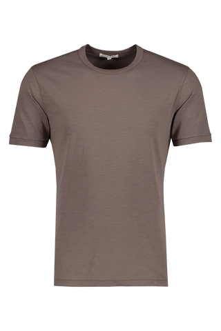 Front image of Alex Mill Men's Standard Slub Cotton Tee Faded Black