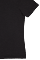 Sleeve detail image of Alex Mill Men's Standard Slub Cotton Tee Black