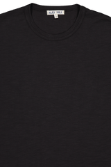 Front collar detail image of Alex Mill Men's Standard Slub Cotton Tee Black
