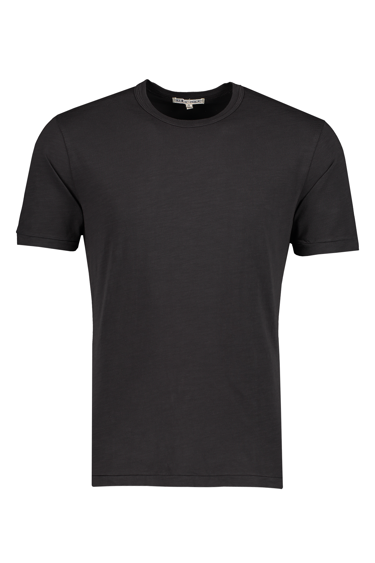 Front image of Alex Mill Men's Standard Slub Cotton Tee Black