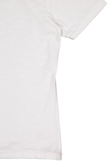 Hemline and sleeve detail image of Alex Mill Men's Standard Slub Cotton Tee White