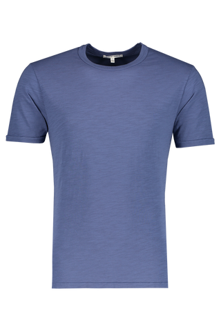 Front view image of Alex Mill Men's Standard Slub Cotton Tee Coastal Blue