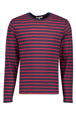 Front Image Of Alex Mill Mariner Long Sleeve Navy Stripe