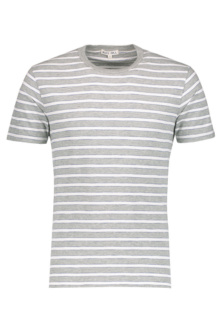 Front Image Tri Color Striped Tee