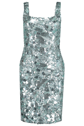 Addie Embellished Mini Dress Powder Blue