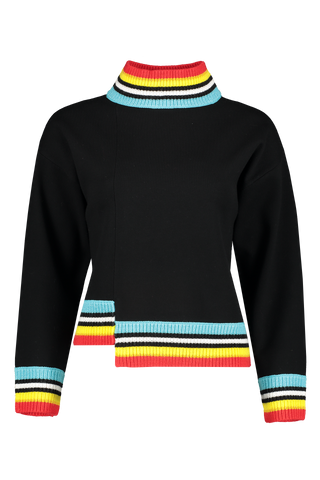 Front Image of Alice & Olivia Aleta Asymmetrical Pullover