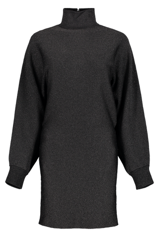 Front view image of Alice & Olivia Bari Turtleneck Dress